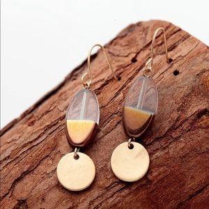 14k Dangle Earrings Geometric